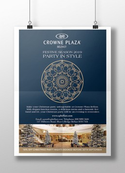 Crowne Plaza Christmas Poster Design
