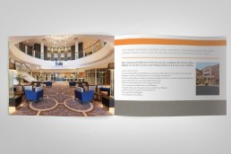 Crowne Plaza Conference brochure design spread