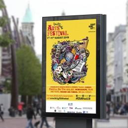 Branding eastside arts advertising