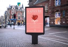 Saphyre valentines day advertising