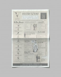 Branding newspaper menu