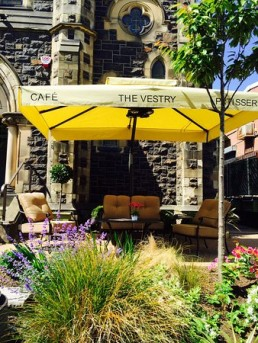 The vestry outside awnings